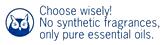 このロゴは純粋なエッセンシャルオイルのみを使用し人工香料は使用していないというロゴです。